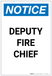 Notice: Deputy Fire Chief Portrait - Label