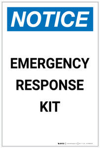 Notice: Emergency Response Kit Portrait - Label