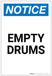 Notice: Empty Drums Portrait - Label