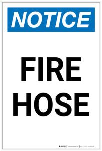 Notice: Fire Hose Portrait - Label