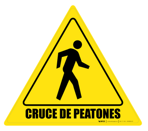 Cruce de Peatones Floor Sign