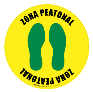 Zona Peatonal Floor Sign