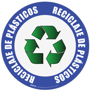 Recycle Plastic (Spanish) Floor Sign