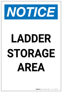 Notice: Ladder Storage Area Portrait - Label