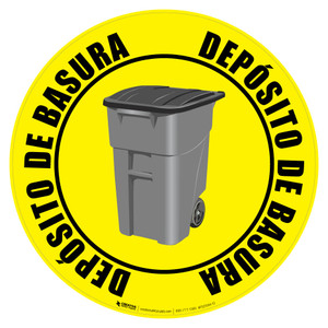 Depósito de Basura (Trash Bin) Floor Sign