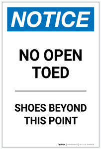 Notice: No Open Toed Shoes Beyond This Point Portrait - Label