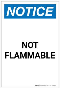 Notice: Not Flammable Portrait - Label