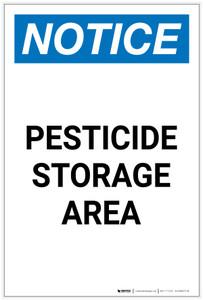 Notice: Pesticide Storage Area Portrait - Label