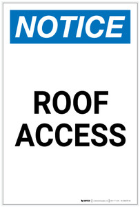 Notice: Roof Access Portrait - Label