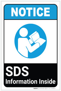 Notice: SDS Information Inside ANSI Portrait - Label