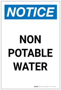 Notice: Non-Potable Water Portrait - Label