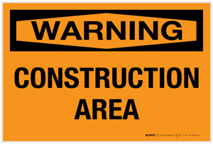 Warning: Construction Area - Label