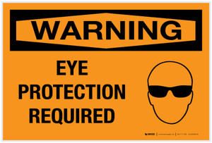 Warning: Eye Protection Required with Graphic - Label