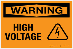 Warning: High Voltage - Label
