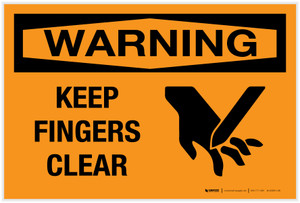 Warning: Keep Fingers Clear - Label
