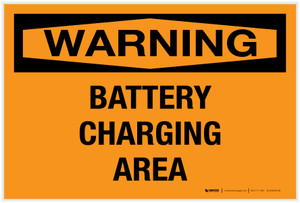 Warning: Battery Charging Area - Label