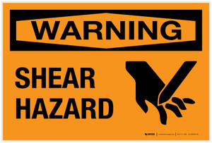 Warning: Shear Hazard - Label