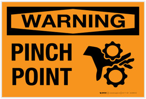 Warning: Pinch Point - Label
