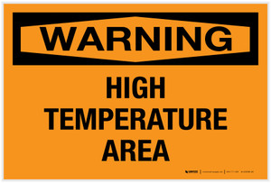 Warning: High Temperature Area - Label