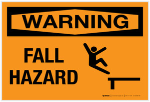 Warning: Fall Hazard - Label