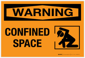 Warning: Confined Space - Label