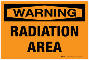 Warning: Radiation Area Landscape - Label