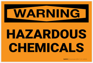 Warning: Hazardous Chemicals - Label