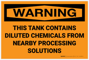 Warning: This Tank Contains Diluted Chemicals - Label