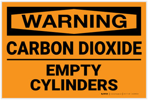 Warning: Carbon Dioxide Empty Cylinders - Label