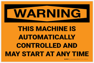 Warning: Machine Automatically Controlled - Label