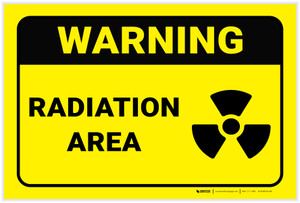 Warning: Radiation Area - Label