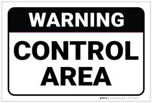 Warning: Control Area - Label