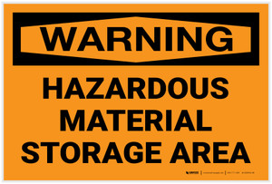 Warning: Hazardous Material Storage Area - Label
