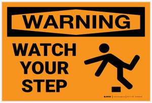 Warning: Watch Your Step - Label