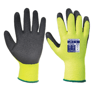 Portwest A140 Thermal Grip Glove, Yellow/Black