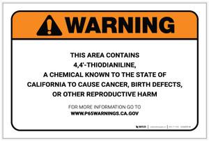 Warning: Prop 65 4,4'-Thiodianiline - Label
