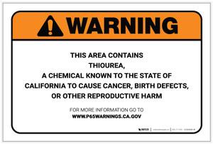 Warning: Prop 65 Thiourea - Label