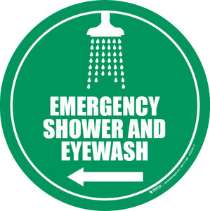 Emergency Shower/Eyewash - L Arrow