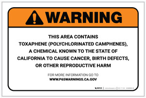 Warning: Prop 65 Toxaphene (Polychlorinated Camphenes) - Label