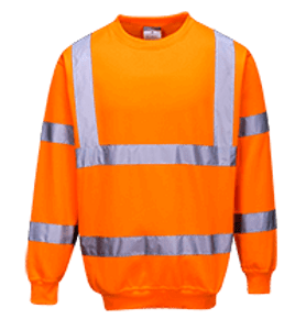 Hi-Vis Sweatshirt, Orange