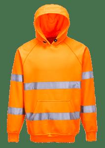 Hi-Vis Hooded Sweatshirt, Orange