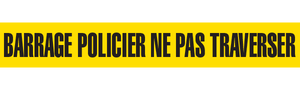 BARRAGE POLICIER NE PAS   - Barricade Tape (Case of 12 Rolls)