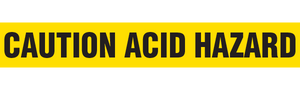 CAUTION ACID HAZARD  - Barricade Tape (Case of 12 Rolls)