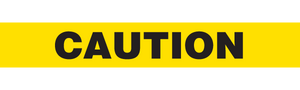 CAUTION  - Barricade Tape (Case of 12 Rolls)