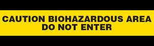 CAUTION BIOHAZARDOUS  - Barricade Tape (Case of 12 Rolls)