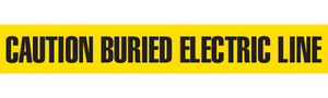 CAUTION BURIED ELECTRIC LINE  - Barricade Tape (Case of 12 Rolls)