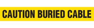CAUTION BURIED CABLE  - Barricade Tape (Case of 12 Rolls)