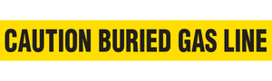 CAUTION BURIED GAS LINE  - Barricade Tape (Case of 12 Rolls)
