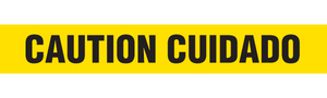 CAUTION CUIDADO  - Barricade Tape (Case of 12 Rolls)