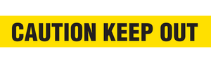 CAUTION KEEP OUT  - Barricade Tape (Case of 12 Rolls)